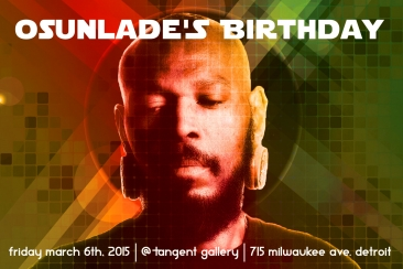 DJ Osunlade flyer design